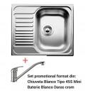 PACHET CHIUVETA BLANCO TIPO 45 S MINI + ROBINET BLANCO DARAS