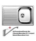 PACHET CHIUVETA BLANCO TIPO 45 S COMPACT C + ROBINET BLANCO DARAS