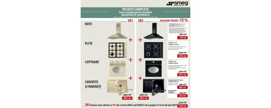Promotii chiuvete, accesorii si electrocasnice disponibile in showroom